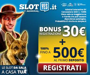 SlotYES - Bonus di benvenuto casinò su Bonusvip