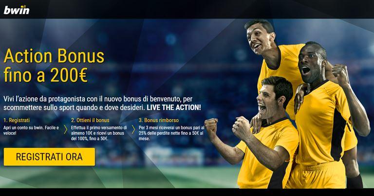 Bwin Bonus commesse Sportive