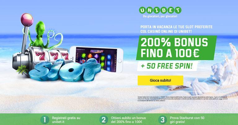 Unibet Bonus Casino su BonusVip