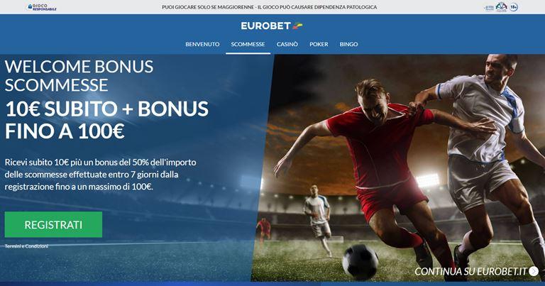 Eurobet Bonus Scommesse su BonusVip