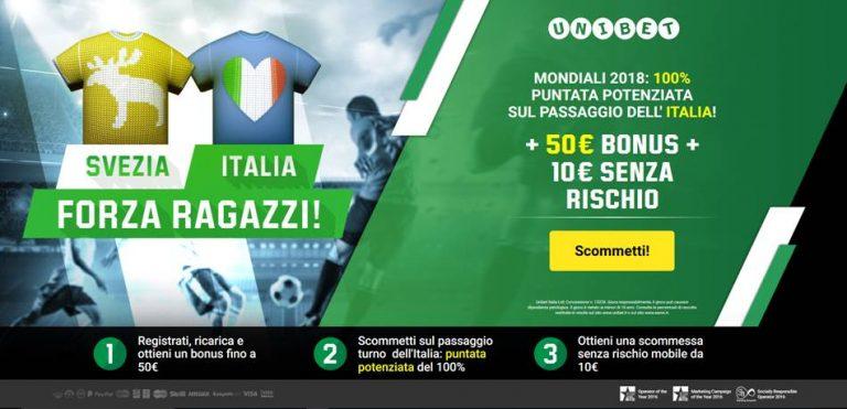 Unibet Puntata Potenziata Italia