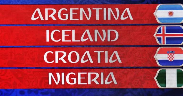 Mondiali 2018 - Gruppo D - I pronostici