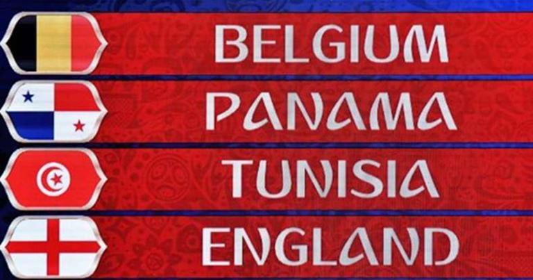 Mondiali 2018 - Gruppo G