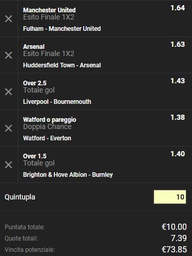 Schedina Premier League 09-02-2019